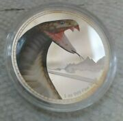 2016 Niue 1 Oz Silver Proof Kings Of Continents King Cobra Snake Coin W/coa