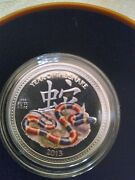 2013 Niue Lunar Year Of The Snake Harlequin Coral 1/2 Oz Silver Proof Coin W/coa