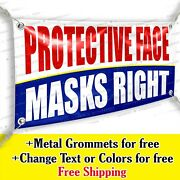 Protective Face Masks Right Custom Vinyl Banner Advertising Sign Bicolor