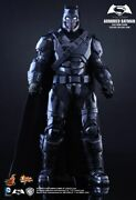 Hot Toys Armored Batman Black Chrome Mms356 With Extras Ltd Ed / Ss Exclusive
