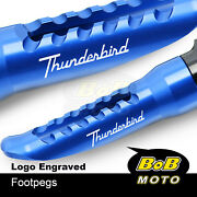 Laser Logo Front Foot Pegs Pedal Rest For Triumph Thunderbird Sport 885
