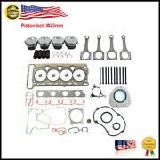 Pistons And Head Gaskets And Con Rods 23mm Set Kit For Vw Audi 2.0 Tfsi Cdn Ccz Cae
