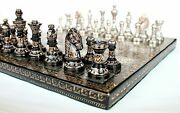 10 Collectible Full Brass Chess Set Hand Carved With 100 Brass Pieces/coins.