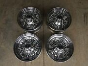 American Racing Vintage Ford Chrome Basket Wire Wheels 14