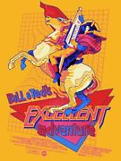 Bill And Tedand039s Excellent Adventure Poster - Mondo X Wbyk - In Hand Ships Today