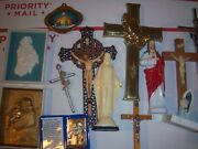50 Pc Lot Of Religious Items, Rosaries, Catholic, Angels, Statues, Crosses + Fs