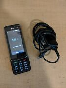 Rare Lg Kf700 Orange Cellphone Mobile Phone Vintage Cell Powers On, W/ Charger