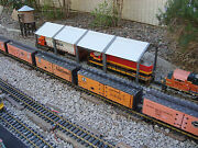 G-scale 44 Long 4 Stall Diesel Maintenance Shed Spans 2 Tracks Fits Lgb And All