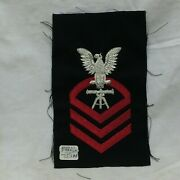 Vtg Military Patch Navy Fire Control Cpo Chief Petty Officer Bullion Variant
