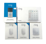 Ring Motion-activated Video Doorbell 3, Keypad, Contacts And Motion Detector New