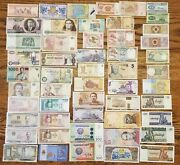 51 Pcs Of Different World Currency Foreign Banknotes Lot Uncirculated With Bonus