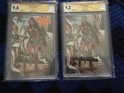 Justice League 1 Brooks Variant A And B Ss Signed By Mark Brooks And Scott Snyder
