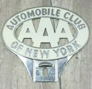 Aaa Automobile Club Of New York License Plate Topper Harley Knucklehead Panhead