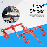 Load Binder Ratcheting Lever 1/4 Inch Chain Hook Tie Down Rigging Equipment New
