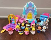 Fisher-price Little People Disney Princess Carriage Playset And Figures Lot