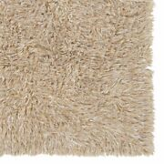 Linon New Flokati Hand Woven Wool 8and039x10and039 Rug In Tan Brown