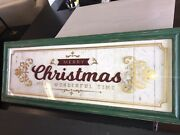 Pottery Barn Framed Merry Christmas Sign Sold Out New