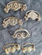 Antique Victorian Furniture Hardware Drawer Pull Handle / Handles Six