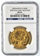 2009 American Buffalo 50 1 Oz .9999 Fine Gold Us Coin Ngc Ms69 Early Releases