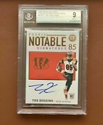 Tee Higgins /50 Rookie Auto 2020 Encased Bgs 9and10 Rc Ssp Bengals Autograph