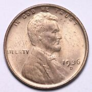 1936-d Lincoln Wheat Cent Penny Choice Bu Free Shipping E751 Kh