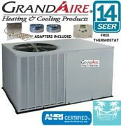 3 Ton Package Unit A/c Grandaire With Heat Strip Adapters And Thermostat