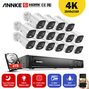 Annke 4k 16ch Nvr 4mp Poe Security Camera System Full Color Night Vision H.265+