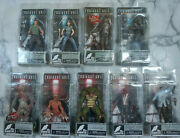 Neca Resident Evil 10th Anniversary Figures Lot Of 9 Figures Sealed