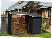 Hanmltiwdshd-gry 2-in-1 Galvanized Steel Multi-use Shed With Firewood