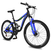 Adult Mountain Bike 26and039and03921speed Surpassing Black Blue Green Frontrear Discbrakes