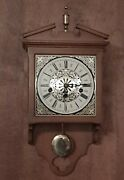 Vintage Linden Wooden Wall Clock For Parts And Repair Only 3 Hole West Germany