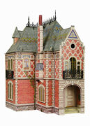 3d Puzzle Construction Kit Cardboard Doll House Ii Toy 74 Detailed Colored 329