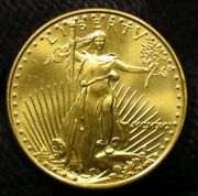1991 25 Gold American Gold Eagle 1/2 Oz Gold Coin Marks