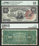 10 1886 Silver Certificate Tombstone Fr. 294 Pmg Very Fine 25