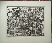 Fiske Boyd American Large Abstract Woodcut Signed Numbered Artist Proof 1954