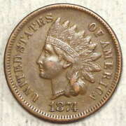 1874 Indian Cent, Extremely Fine, Better Date  0617-03