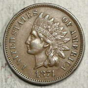 1874 Indian Cent, Almost Uncirculated, Better Date  0617-01