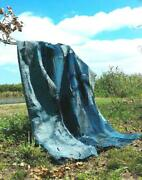 Antique Indigo Dyed Patched Fabric Tapestry Collectible Rare Blue F/s From Japan