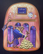 Loungefly Disney Beauty And The Beast Belle Ballroom Dancing Mini Backpack New