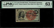 Fr-1271 0.15 Fourth Issue Fractional Currency - 15 Cents - Graded Pmg 63 Epq