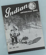 1944 Indian Motorcycle News Factory Magazine Book Chief Scout Four Police 741