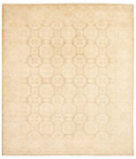 Vintage Geometric Hand-knotted Carpet 8and0391 X 9and0394 Traditional Wool Area Rug