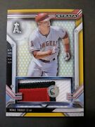 2016 Topps Strata Mike Trout /25 Gold Sp 3-color Jersey Relic Card Car-mtr