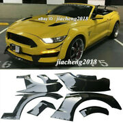 Fender Flares Wide Body Kit Wheel Arch Cover Trim For Ford Mustang 15-17 Gt500