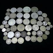 Lot Of 50 Different Vintage Foreign World Silver Coins Lot-1