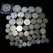 Lot Of 50 Different Vintage Foreign World Silver Coins Lot-2