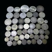 Lot Of 50 Different Vintage Foreign World Silver Coins Lot-3