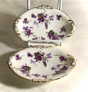 2 Hammersley Victorian Violets 6 Soap Dishes