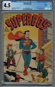 Cgc 4.5 Superboy 10 1st Appearance Lana Lang 1950 Dc Golden Age Ow/w Pages