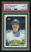 1989 Topps Traded Randy Johnson 57t Rookie Card Rc Psa 8